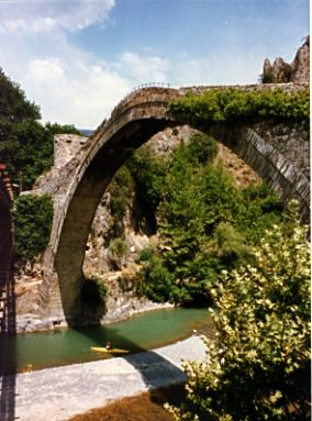 Stone Bridge on the Aoos River