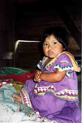 Guaymi Baby in Traditional Dress